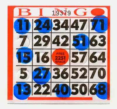 Marked Bingo Card
